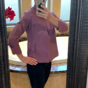 Buttonless Eileen Fisher Jacket with flat pockets